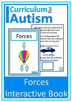 Forces, Physics Interactive Adapted Science Book, Autism, Special Education