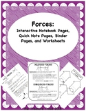Forces: Interactive Notebook Foldables, Binder Pages and W