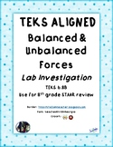 Forces Investigation Balanced and Unbalanced forces TEKS 6.8B