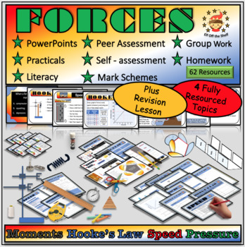 Forces Module for Middle School Science Plus Review Lesson