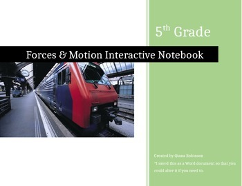 Forces & Motion Interactive Notebook Pages