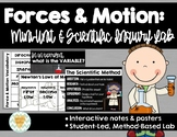 Forces & Motion - Interactive Notes & Student-Led Inquiry Lab {Grades 4-6}