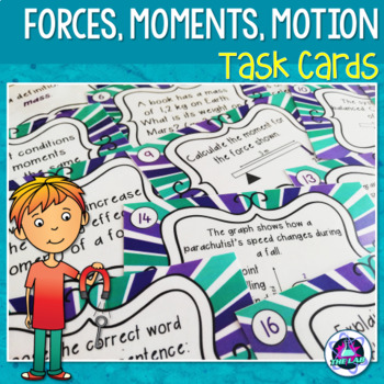 Forces, Motion & Moments Task Cards