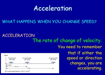 Forces & Motion Notes - Acceleration
