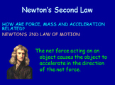 Forces & Motion Notes - Newton's Second Law