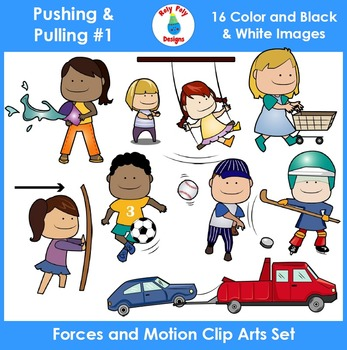 Forces and Motion (Pushing & Pulling) Clip Art Set 1 by ...