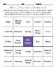 Forces & Motion Review Bingo