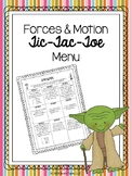 Forces & Motion Tic-Tac-Toe Choice Board (Editable)