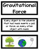 Forces, Motion, and Electricity Word Wall/Vocabulary Cards