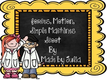 Forces, Motion, and Simple Machines- Great for GA Mileston