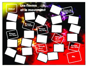 Les forces et le movement Forces & Movement Board Game Science