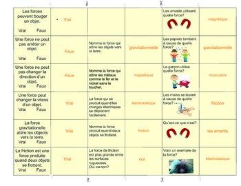 Les forces et le movement Forces & Movement Board Game Science