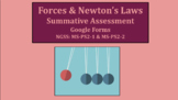 Forces & Newton's Laws of Motion Summative Assessment