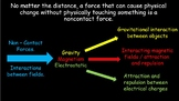 Non-Contact and Contact forces