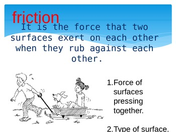 Forces Powerpoint- Friction and Gravity