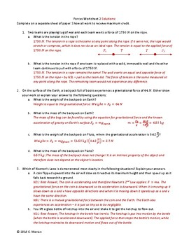 Forces Practice Worksheets (3)