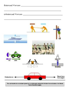 Forces Review Notes - Balanced & Unbalanced Forces