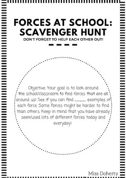 Forces Scavenger Hunt