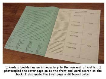 Forces & Structures: Word search & Term Comprehension Bundle