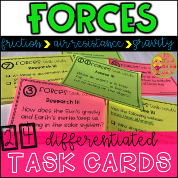 Forces Task Cards and Station Activity
