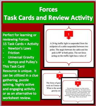 Forces - Task Cards and UNIQUE Activity - Motion
