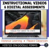 Forces That Shape Earth Instructional Videos & Digital Qui