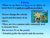 Forces Unit PowerPoint (Forces, Friction, Gravity, Force Vectors)