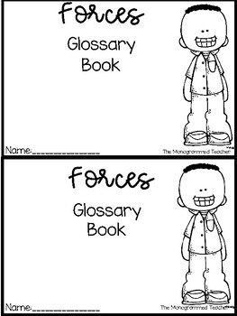 Forces Vocabulary Book