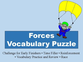 Forces Vocabulary Puzzle