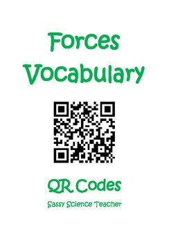 Forces Vocabulary QR Codes