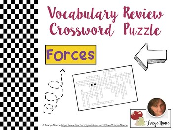 Forces: Vocabulary Review Crossword Puzzle