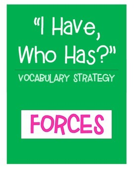 Forces Vocabulary Strategy - I Have, Who Has? (18 cards)