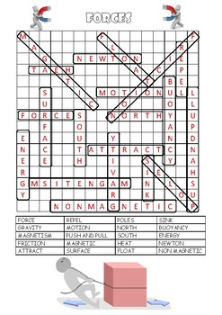 Forces Word Search and Quiz