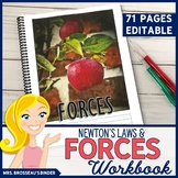 Forces Workbook & PowerPoint | Physics: Newton's Laws and Forces