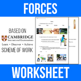 Forces Worksheet - Physics