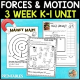 Force and Motion Worksheets | Kindergarten 1st Grade Activities