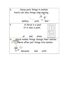 Forces and Conjunctions (CCSS Aligned)
