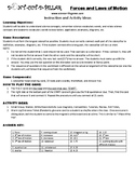 Forces and Laws of Motion Game Puzzle with Worksheet