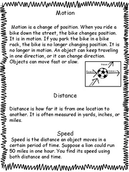 Science: Forces and Motion