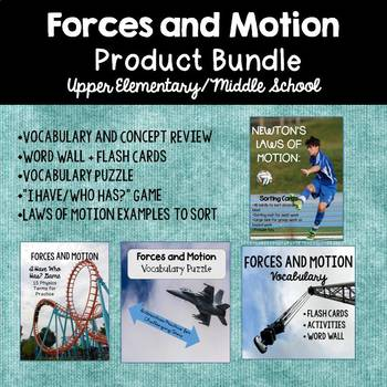 Forces and Motion 4-Product Bundle