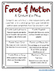 Third Grade NGSS - Forces and Motion Activities