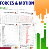 Forces and Motion Activity - Bundle Word Search Scramble V