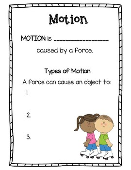 Forces and Motion Booklet