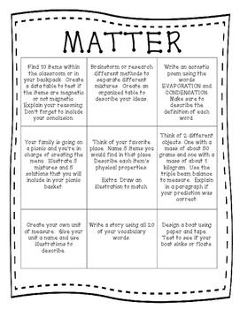 Matter Choice Board