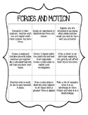Forces and Motion Choice Board