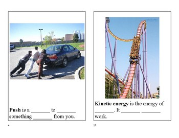 Forces and Motion ESL Vocabulary Book
