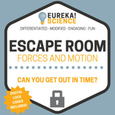 Newton's Laws, Forces and Motion Science Escape Room - Breakout Room (Physics)
