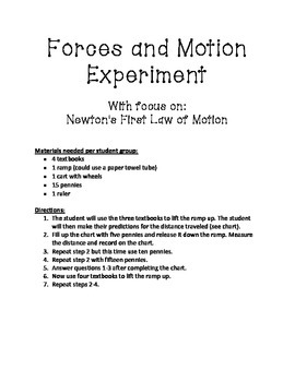 Forces and Motion Experiment