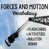 Forces and Motion FLASH CARDS + WORD WALL