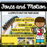 NGSS 3rd Grade Forces and Motion Unit